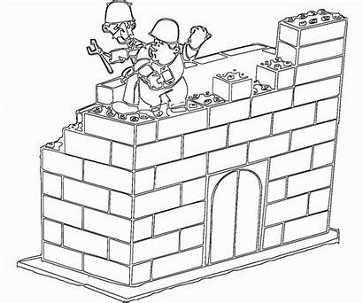 Lego Coloring Pages Block Colouring Pieces Blocks