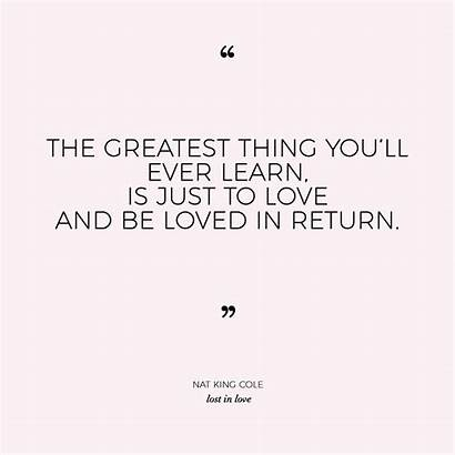 Nat Cole King Quotes Lost Greatest Thing