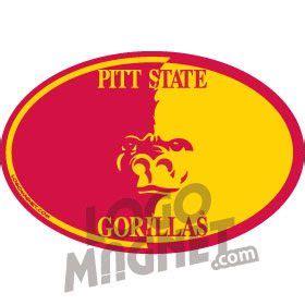 pitt state gorillasjpg custom car magnet logo magnet