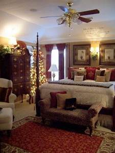 My Master bedroom at Christmas Holiday Designs