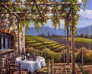 tuscan bedroom decorating ideas sung vineyard terrace painting