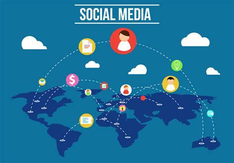 social media vector   vector art stock