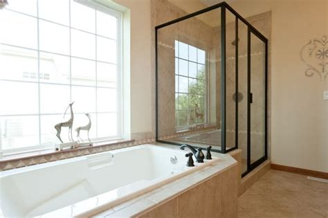 drop in tub surround drop in tub with ceramic walk in shower use the edge of