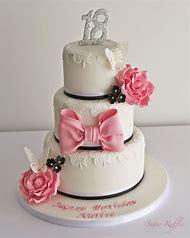 Elegant 18th Birthday Cake