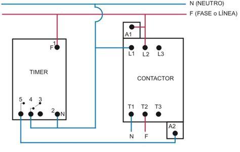 circuito timer con contactor funcionamento e liga 231 227 o do temporizador no contator motor