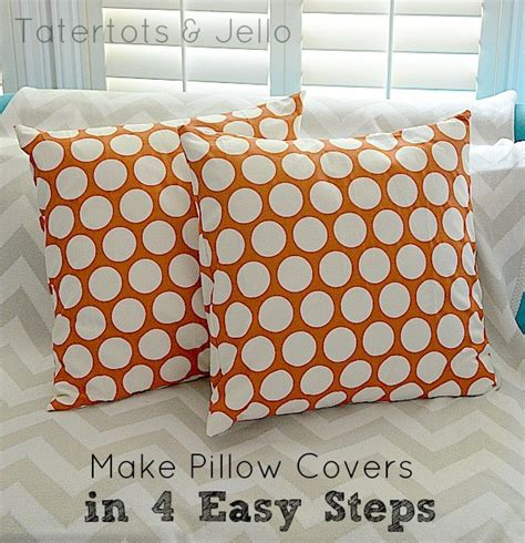 how to make pillows make envelope pillow covers in 4 easy steps