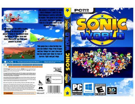 sonic fan games online sonic world fan game box pc windows by