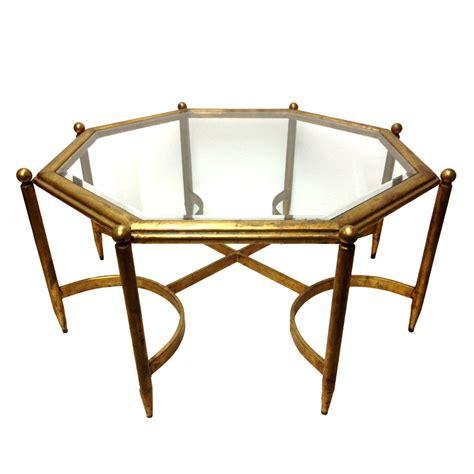 gold glass top coffee table fabulous regency gold gilt glass top coffee table the