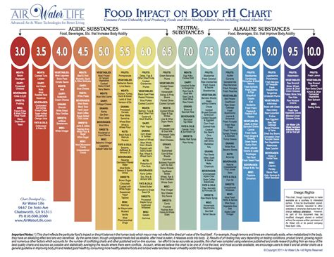 food ph list balancing acidalkaline foods