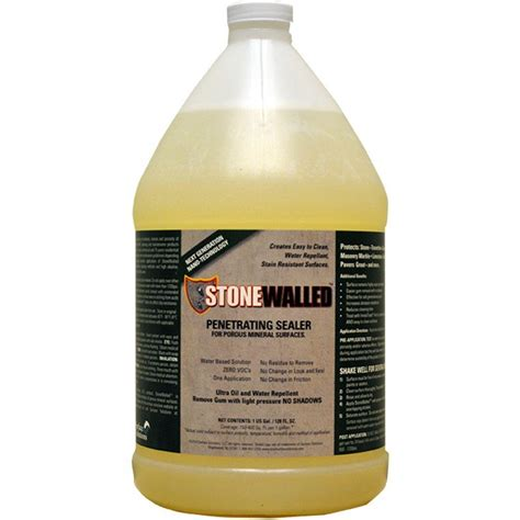 tile grout sealer stonewalled 1 gal penetrating and grout sealer