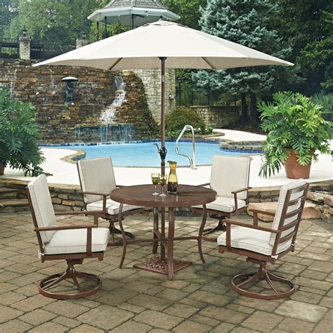 key west 7 pc outdoor dining table 4 swivel