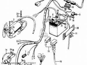 honda xl100 k0 1974 usa parts list partsmanual partsfiche With the a c related wiring harness 1974