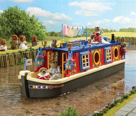 Sylvanian Families Canal Boat buy grace waterside canal boat sylvanian families