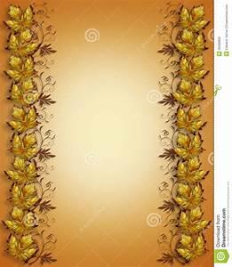 Autumn leaves border stock illustration. Illustration of ...