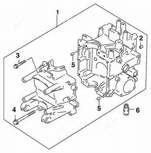 Johnson 2006 10 - J10tbl4sde  Crankcase