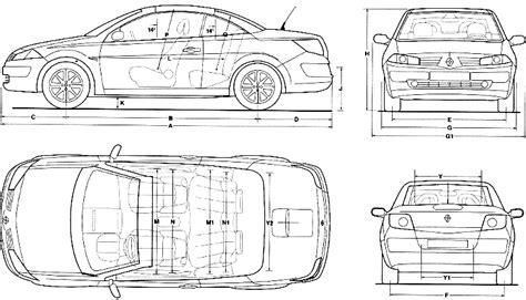 2007 renault megane cc coupe blueprints free outlines
