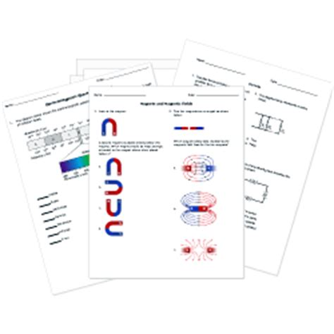 printable physics science tests and worksheets physics chemistry and earth science