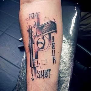 Gun Tattoo Images  U0026 Designs