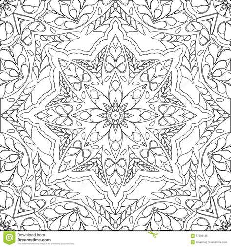 coloring page mandala stock vector illustration