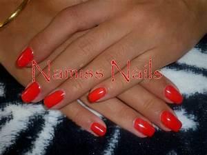 Ongle En Gel Court : gainage verni gel rouge vos ongles ma passion ~ Melissatoandfro.com Idées de Décoration