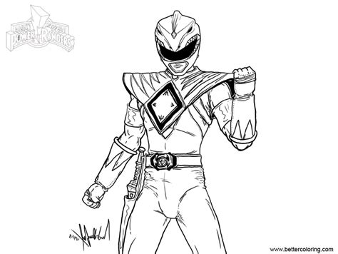 Mighty Morphin Power Rangers Coloring Pages Fan Art Free