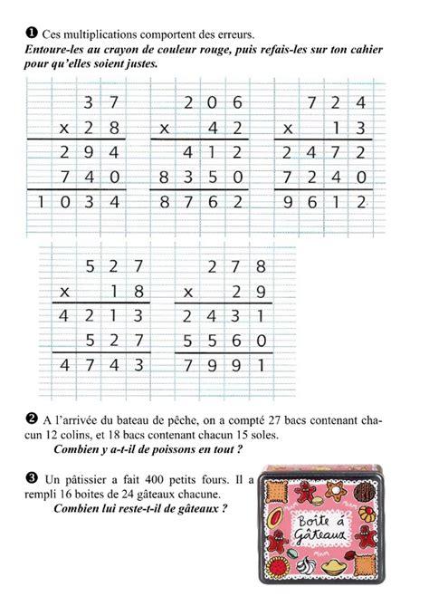 evaluation tables de multiplication ce2 maths ce2 technique op 233 ratoire de la multiplication par un nombre 224 2 chiffres