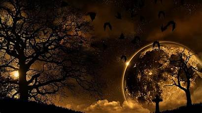 Night Landscape Nature 1080p Wallpapers Background Halloween
