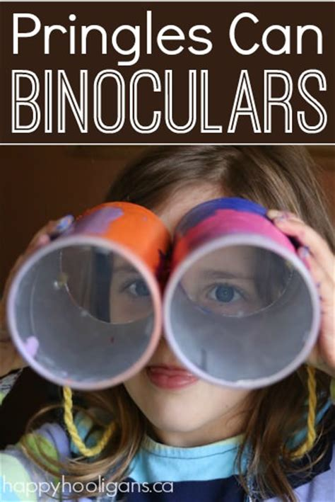 pringles  binoculars craft  preschoolers happy