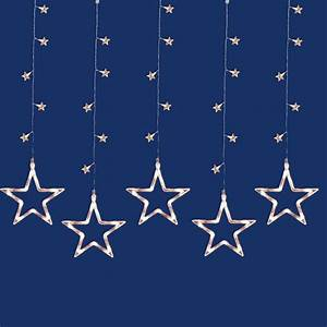 100 Clear Led Star Silhouette Window Curtain Christmas