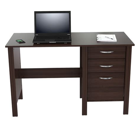 desk with drawers inval america writing desk with three drawers in espresso