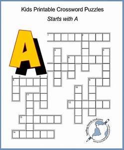 Fun Kids Printable Crossword Puzzles