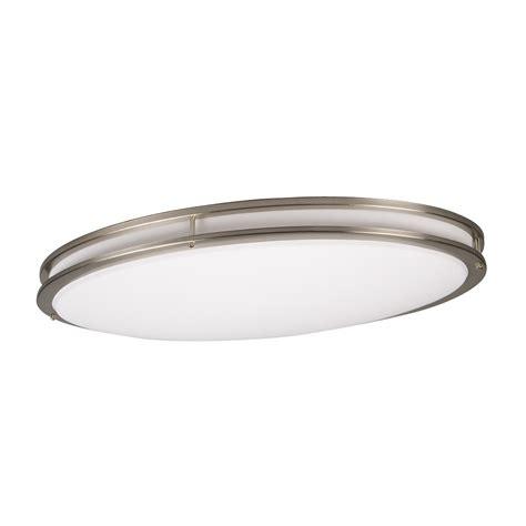 brushed nickel flush mount ceiling light galaxy lighting 950064bn 2 light fluorescent flush mount