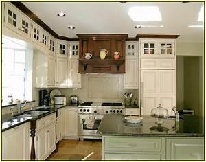 white kitchen cabinets green granite countertops green With kitchen colors with white cabinets with inspection sticker texas