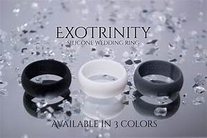ExoTrinity Sports Men39s Silicone Wedding Band Ring With