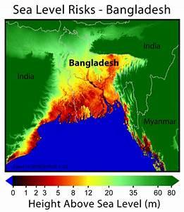 Bangladesh: elevation above sea level