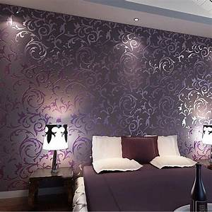 wallpaper High quality wall paper 3D fashion papel de ...