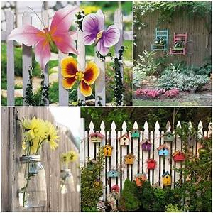 10 fabulous ideas to decorate your patio or garden fence With how to decorate your garden