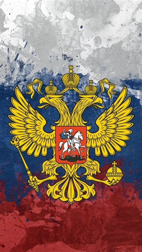 russia russian federation flags eagles emblems wallpaper