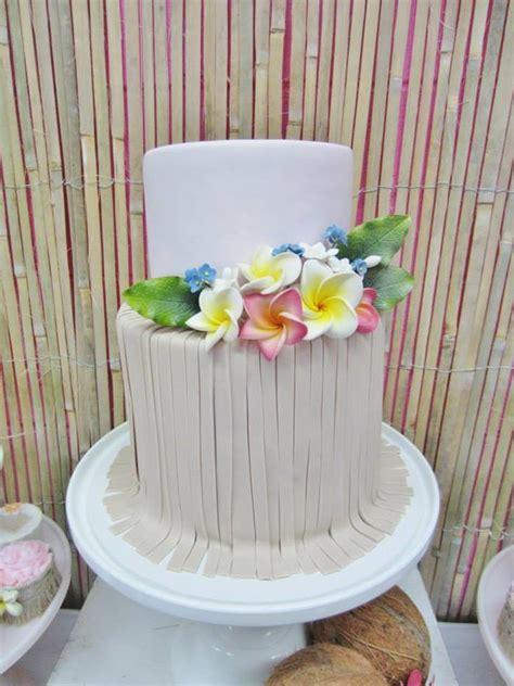 Hawaiian Cake Decorations by Kara S Party Ideas Hawaiian Birthday Party Planning Ideas