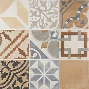 Carrelage Imitation Carreau Ciment : carrelage sol aspect carreau ciment vintage mix ~ Premium-room.com Idées de Décoration