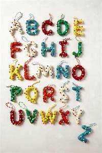29 best christmas tree decor images on pinterest With decorative letter ornaments