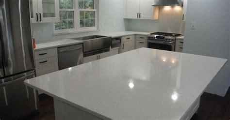Crystal White LG Viatera quartz kitchen countertops for