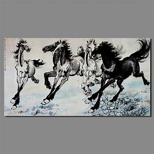 Famous Chinese Paintings Steeds decoration wall art ...