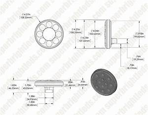 Round Led Truck And Trailer Lights W   Clear Lens