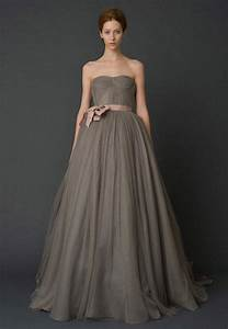Black and gray wedding dresses weddbook for Gray dresses for weddings