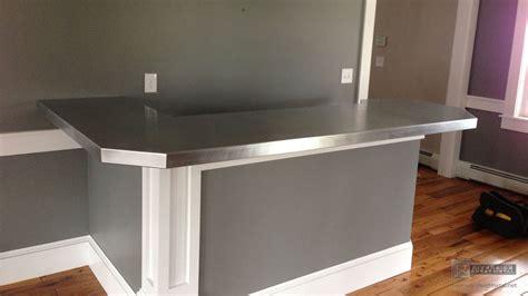 zinc bar top  shaped   degree corner