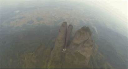 Wingsuit Through Mountain Flying Flies Flight Guy