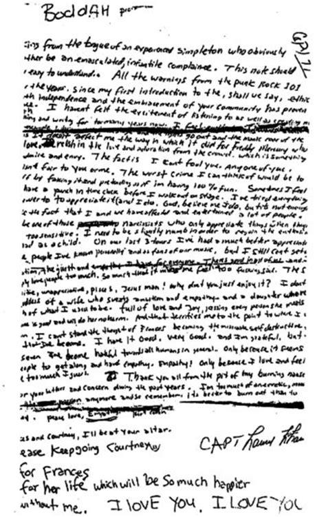 Lettere Di Suicidi by Kurt Cobain S Note Non Ski Gabber Newschoolers