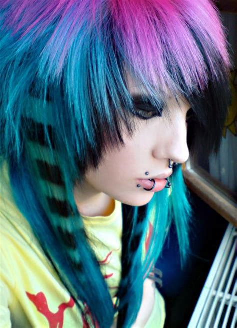 Multi Color With Coon Tail Hair Pinterest Scene Hair