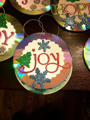 craft for christmas using old cds a few pieces ornaments the can make